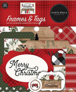 Carta Bella  Frames  and Tag FARMHOUSE CHRISTMAS
