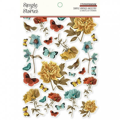 SIMPLE STORIES- SIMPLE VINTAGE ANCESTRY  -STICKER BOOK