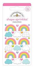 "Doodlebug Design "" Chasing rainbow shape sprinkles"""