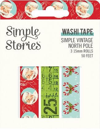 SIMPLE STORIES- SIMPLE VINTAGE North Pole  -WASHI TAPE
