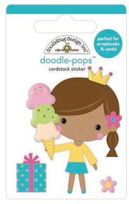 Doodlebug Design Hey Cupcake Doodle pops Birthday Princess