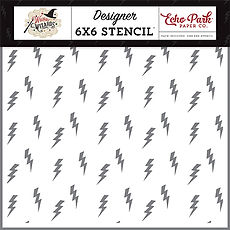 Stencil Lightning Strike  6x6x Echo Park  collezione Witches & Wizards
