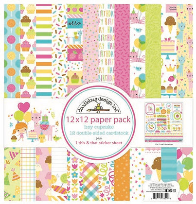 Doodlebug Design Hey Cupcake Paper pack  12 x 12  inc