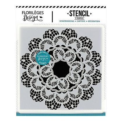 Florileges Design Stencil dentelle -pizzo