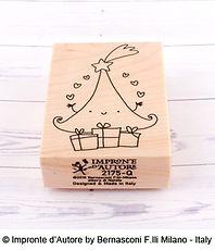 Impronte d'Autore- timbro in legno Albero di Natale