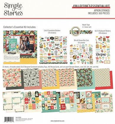SIMPLE STORIES- APRON STRINGS  -COLLECTOR'S ESSENTIAL KIT