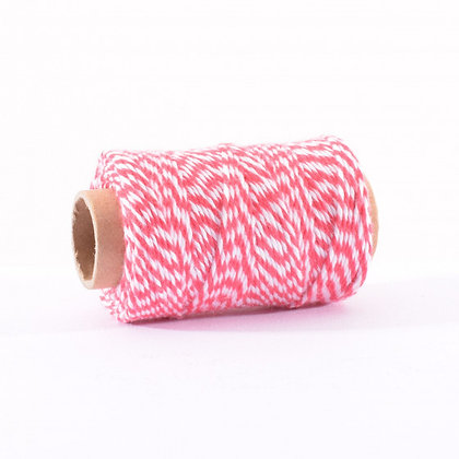 BAKERS TWINE 45 MT ROSSO  E BIANCO