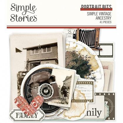 SIMPLE STORIES- SIMPLE VINTAGE ANCESTRY PORTRAIT BITS E PIECES