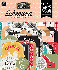 Ephemera die cut Echo Park  collezione Farmhouse Kitchen