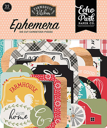 Ephemera die cut Echo Park  collezione Farmhouse Kitchen