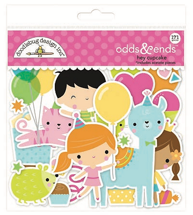 Doodlebug Design Hey Cupcake Odds & Ends diecuts