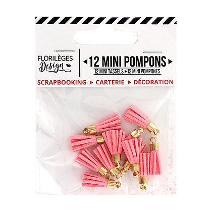 Florileges Design 12  Mini pompons Rose the