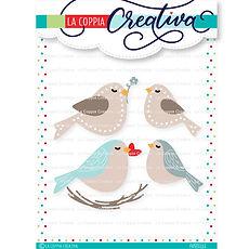 """La coppia creativa - Set di 12  fustelle  """" Uccellini  """""""