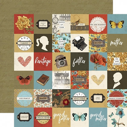 SIMPLE STORIES-SIMPLE VINTAGE ANCESTRY   2 X 2 ELEMENTS