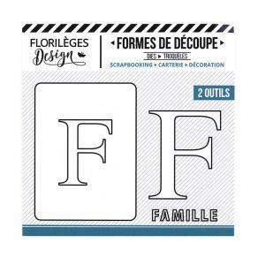 Florileges Design fustelle  lettera F collezione  A la Lettre