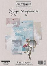 """Chou & Flowers - Paper pack A4 Vellum Acquerello """"  Voyage Imaginaire """""""