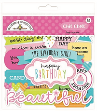 Doodlebug Design Hey Cupcake Chit Chat diecuts