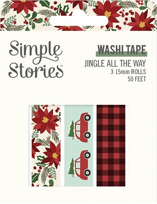 SIMPLE STORIES- JINGLE ALL THE WAY  -WASHI TAPE