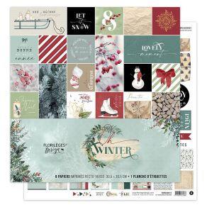 Florileges Design kit 8 carte collezione Oh Winter