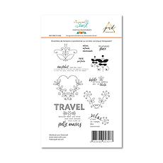 "PaperNova  Design- Set  timbri clear "" Trip to the island"""