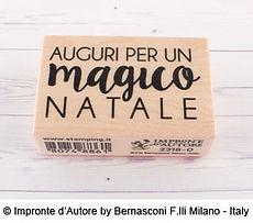 """Impronte d'Autore- timbro in legno """" Auguri per un magico Natale """""""