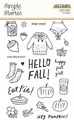 SIMPLE STORIES- COZY DAYS -STAMPS