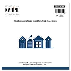 """Les  ateliers de Karine - 1  fustella """" Cabines de plage """""""