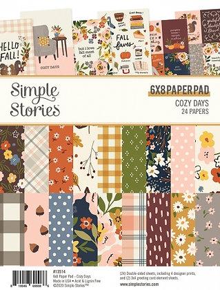 SIMPLE STORIES- COZY DAYS 6 x 8 PAD