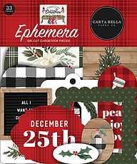Carta Bella  Ephemera die cut FARMHOUSE CHRISTMAS