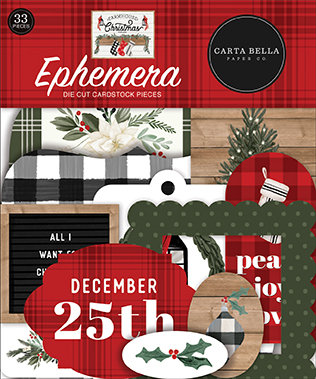 Carta Bella  Ephemera die cut FARMHOUSE CHRISTMAS