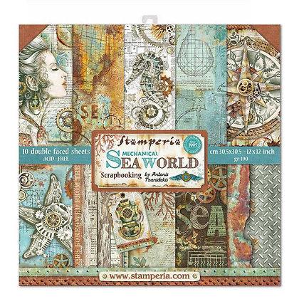 Pad scrapbooking  10 fogli collezione Sea world  di Stamperia
