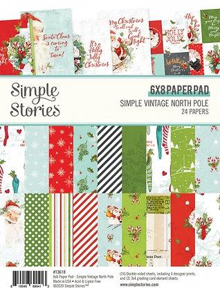 SIMPLE STORIES- SIMPLE VINTAGE North Pole  6 x 8 PAD