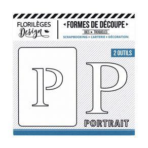 Florileges Design fustelle  lettera P  collezione A la lettre