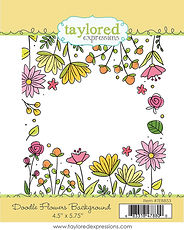 DOODLE FLOWER BACKGROUND TAYLORED EXPRESSIONS