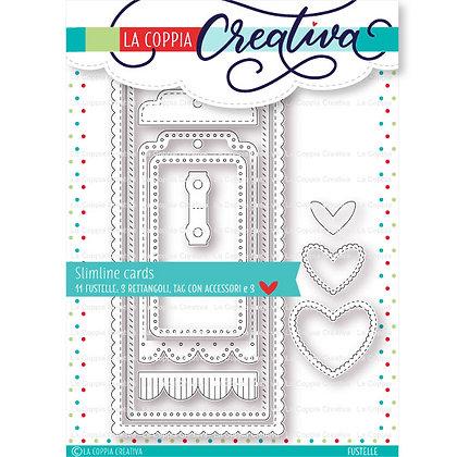 """La coppia creativa -Set di 11 fustelle   """" Slimline cards """""""