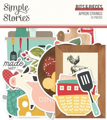 SIMPLE STORIES- APRON STRINGS  -BITS E PIECES