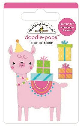 Doodlebug Design Hey Cupcake Doodle pops Party Lama