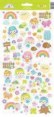 """Doodlebug Design """" Fairy Garden Icon cardstock stickers """""""