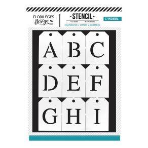 Florileges Design 27 Stencil Alfabeto