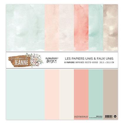 Florileges Design kit 6 carte double face  La maison de Jeanne