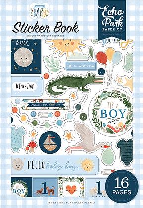 """Echo Park Sticker book  collezione """" Welcome baby boy """""""