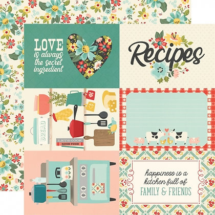 SIMPLE STORIES-APRON STRINGS  4 x 6 ELEMENTS