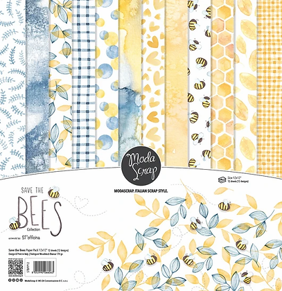 MODASCRAP PAPER PACK SAVE THE BEES 12X12