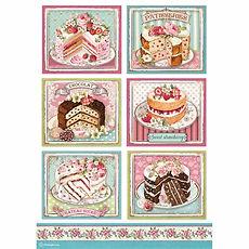 Carta di riso A4 Patisserie  Collezione Sweety di Stamperia