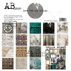 "AB STUDIO scrapbooking pad collezione "" Love for the old things """