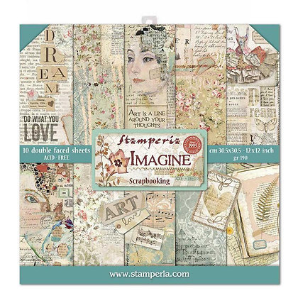 Pad scrapbooking  22  fogli collezione Imagine di Stamperia