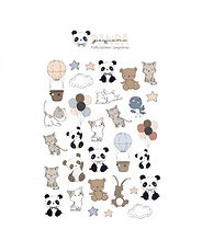 Rita Rita - Pequeno Panda  -Set Puffy  Stickers