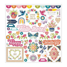 "Paige Evans- Chipboard stickers 12"" x 12"" collezione Wonders"