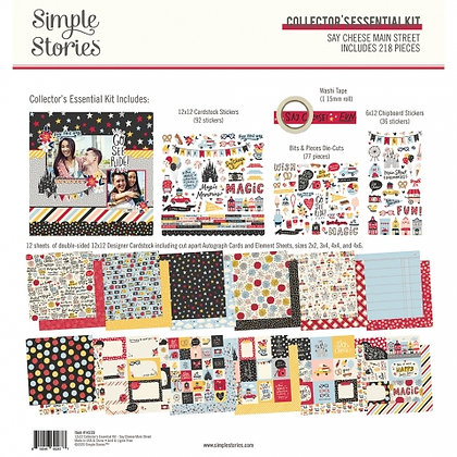SIMPLE STORIES-SAY CHEESE Main Street  -COLLECTOR'S ESSENTIAL KIT
