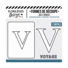 Florileges Design fustelle  lettera V  collezione A la lettre